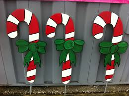 Outdoor Christmas Yard Decorations by Christmas Candy Canes Holiday Wooden Yard By Fabsspiritcentral