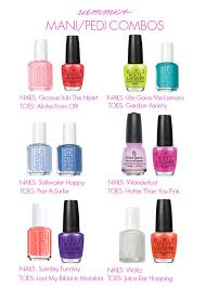 Good Color Pairs The Prettiest Manicure And Pedicure Combos For Summer Mani Pedi