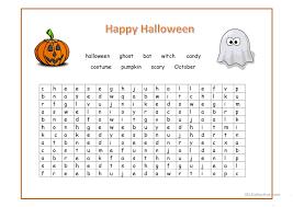 happy halloween wordsearch worksheet free esl printable
