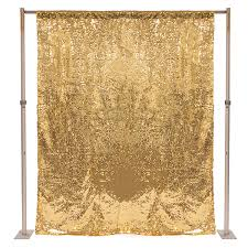 gold backdrop gold sequin backdrop curtain w 4 rod pocket 8ft x 6ft wide