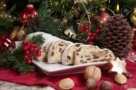 traditional german cake cranberry stollen