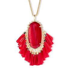 long red pendant necklace images Kendra scott jewelry betsey long pendant necklace red poshmark jpg