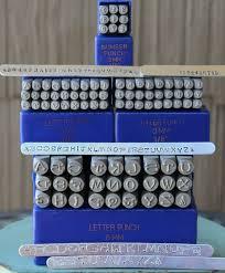 3mm 6mm dotz font metal letter alphabet stamp combination set