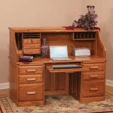 Small Executive Desk by Useful Roll Top Computer Desk Batimeexpo Furniture Throughout