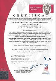 bureau veritas dijon certification of quality gabriel boudier since 1874