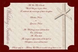 Invite Cards Wedding Invite Templates Indian Christian Wedding Invitation