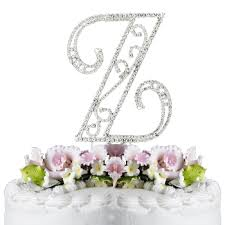 z cake topper romanesque swarovski wedding cake topper letter z