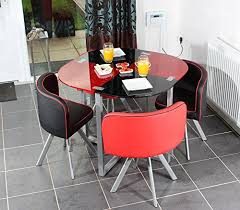 Space Saver Dining Set Table Four Chairs Charles Dining Table With Four Chairs Set In Black