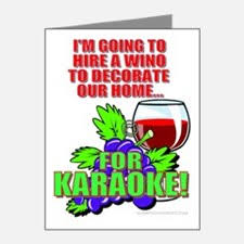 Hire A Wino To Decorate Our Home Wino Thank You Cards Wino Note Cards Cafepress