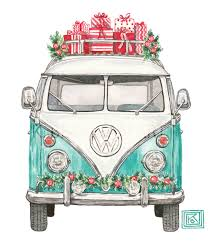 volkswagen easter christmas vw christmas volkswagen greeting cards classic car