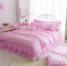 Girls Bedding Sets by Pink Color Bedclothes Princess Girls Bedding Set For Single Double
