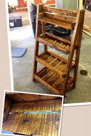 Pallet Wood Bookshelf Rustic Bookshelf Out Of Pallets Wood Pic Pallet Wood Ladder Shelf