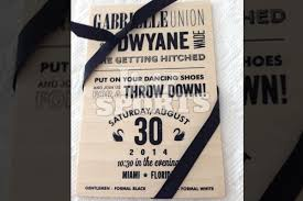 wedding invitations miami wade and union wedding invitations revealed hot hot hoops