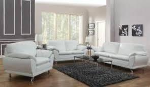 Leather Living Room Set EBay - White leather living room set