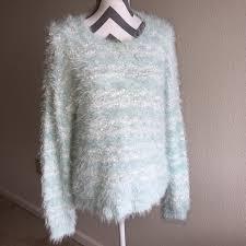 apt 9 clothing apt 9 sweaters apt 9 fuzzy blue soft sequin sweater size pl