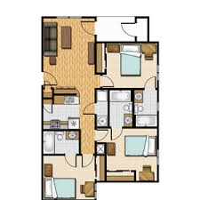 3 bedroom floor plans 3 bedroom apartment floor plan castlerock at san marcos