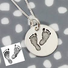remembrance jewelry baby actual footprint necklace medium memorial jewelry gifts