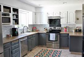 Black And Brown Kitchen Cabinets Grey Wood Kitchen Cabinets Design With Brown Granite And Black