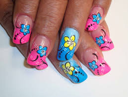 17 cute easy flower nail designs short nails tutorial cute