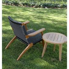 Teak Patio Furniture by Outdoor Patio Side Table Olga Round Table
