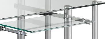 bureau transparent verre bureau informatique design en verre transparent dimitrio bureau