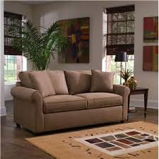 Klaussner Storage Ottoman Klaussner Brighton Air Dream Queen Sleeper Sofa With Rolled Arms