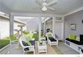 White Resin Wicker Loveseat Cottage Porch With Ceiling Fan U0026 Carpet In Apex Nc Zillow Digs
