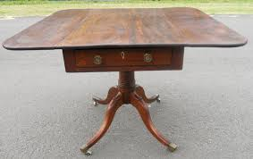 antique mahogany pedestal table georgian mahogany pedestal pembroke table 343726 sellingantiques