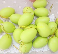 Diy Plastic Easter Egg Decorations by Aliexpress Com Buy 100pcs Lot Free Shipping 6x4cm Plastic Easter
