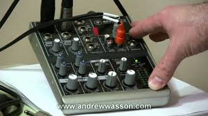 Best Small Mixing Desk Basic Home Recording Mic Mixer Set Up