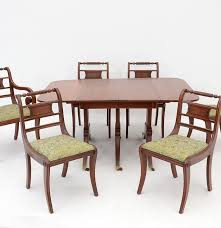 consider h willett co cherry dining table and chairs ebth