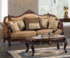 Formal Living Room Set by Michael Amini Cortina Luxury Bedroom Furniture Set Honey Walnut