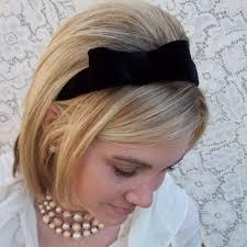 velvet headband velvet bow headband from belindaavant on etsy