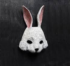 bunny mask the forgetful rabbit bunny mask paper mask fancy dress papier