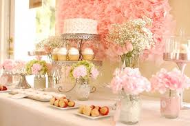 simple table decorations simple table decoration for bridal shower party decoration picture