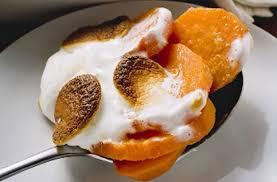 sweet potato and marshmallow gratin recipe goodtoknow