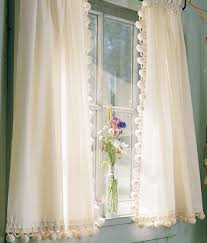 White Curtains With Pom Poms Decorating Classic Fringe Curtains My Grandmother Had These On All Of