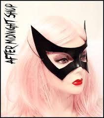 1950 Halloween Costume Catwoman 1950 Black Cat Superhero Leather Black Mask Batman