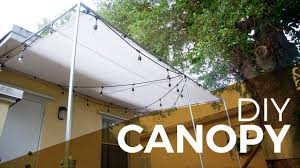 how to install a canopy with regular and electrical fittings diy