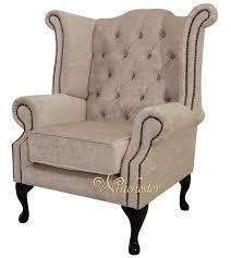Queen Armchair Chesterfield Swarovski Queen Anne High Back Wing Chair Pastiche