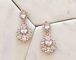 drop earrings wedding bridal drop earrings etsy