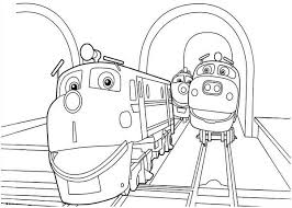 action chugger friends happy chuggington coloring