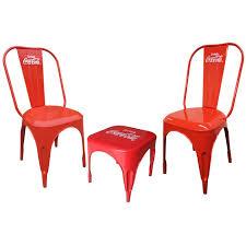 coca cola table and chairs leighcountry coca cola retro café 3 piece bistro set reviews