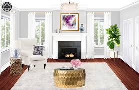 contemporary classic glam living room design by havenly interior