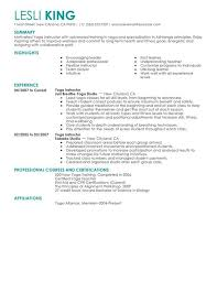 Stand Out Resume Examples by Yoga Teacher Resume Sample Best Resume Collection