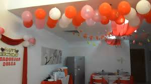 Birthday Decorations For Husband At Home by Birthday Party Decorations Idea Youtube