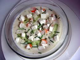 cuisine froide recette soupe froide concombre surimi cuisinez soupe froide