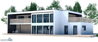 House Plans For Wide Lots Contemporary House Plan To Wide Lot Two Living Areas
