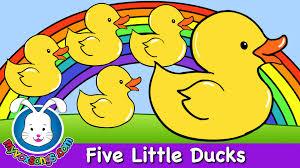 five little ducks nursery rhymes by myvoxsongs youtube