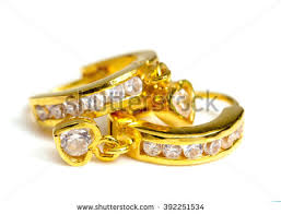 gold ear ring images gold earrings stock images royalty free images vectors